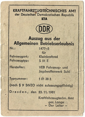 Allgemeine Betriebserlaubnis